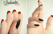 short-nail-funky-red-anf-black-wedding-nail-design-from-christian-louboutin-funky-nail-polish-designs